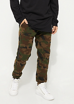 Camo Zipped Fleece Joggers