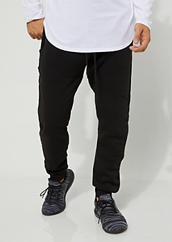Black Moto Thigh Jogger