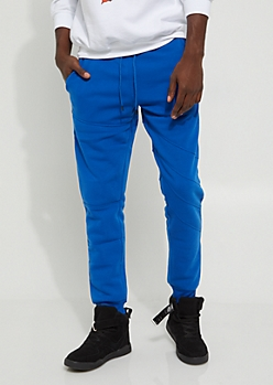 Royal Blue Moto Thigh Jogger