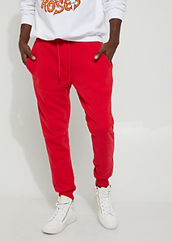 Red Moto Thigh Jogger