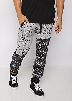 Paint Splattered Color Block Jogger