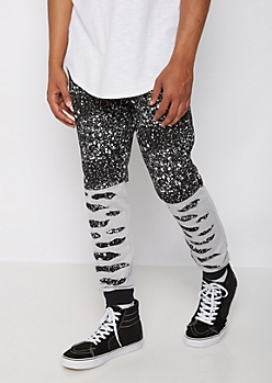 Distressed Paint Splattered Jogger