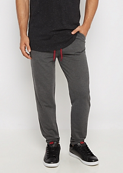 Charcoal Gray Tapered Knit Jogger