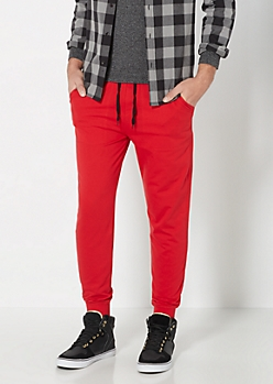 Red Terry Jogger