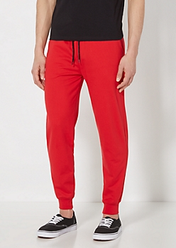 Red Terry Knit Jogger