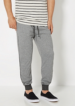 Charcoal Gray Marled Knit Jogger