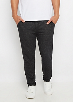 Charcoal Marled Soft Knit Tapered Jogger