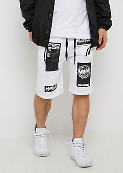 White Hustle Knit Short