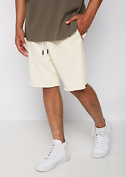 Raw Edge French Terry Knit Short