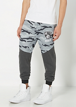 Brooklyn Nets Camo Blocked Jogger