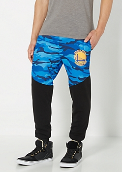 Golden State Warriors Camo Blocked Jogger
