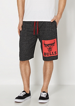 Marled Knit Chicago Bulls Short