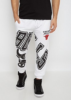 Chicago Bulls Oversized Logo Terry Jogger