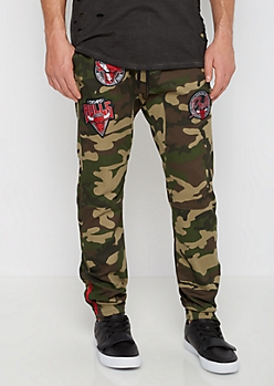 Chicago Bulls Patched Camo Jogger
