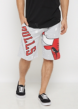Chicago Bulls Paint Splattered Knit Short