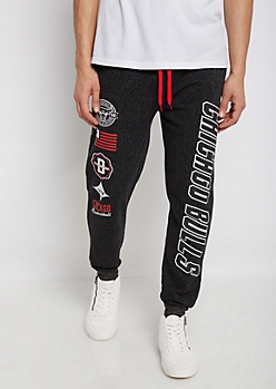 Chicago Bulls Mixed Logo Jogger