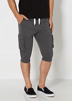 Charcoal Cargo Pocket Jogger Short