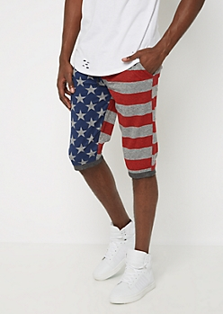 Heathered Americana Jogger Short