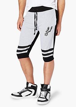 San Antonio Spurs Striped Jogger Short