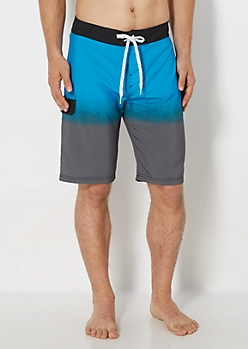 Blue Dip Dye Board Short