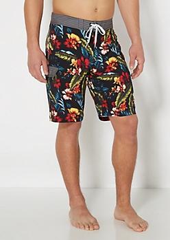 Hawaiian Hibiscus Board Short