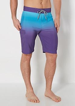 Purple Ombre Board Short