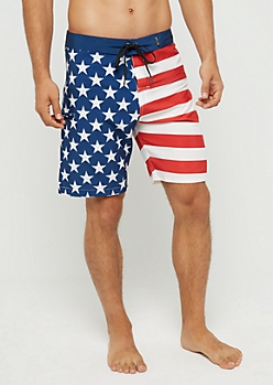 American Flag Board Short