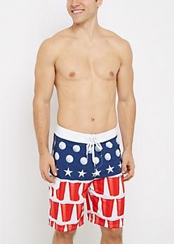 Americana Pong Board Short