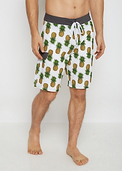 Tossed Pineapple Board Short