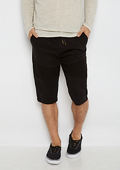 Flex Black Moto Twill Short