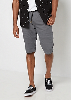 Flex Charcoal Moto Twill Short
