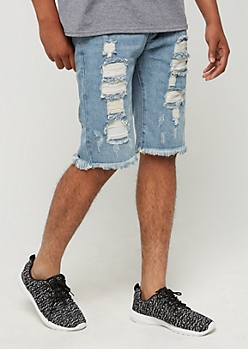 Ripped Jean Shorts by XRay