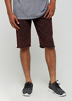 Burgundy Vintage Washed Jean Shorts by XRay