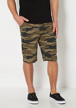 Camouflage Constructed Twill Short