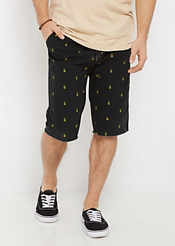 Flex Pineapple Raw Hem Jogger Short