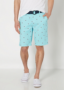 Lobster Belted Freedom Flex Twill Short
