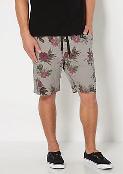 Gray Vintage Hawaiian Short