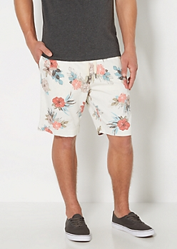 White Vintage Hawaiian Short