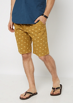 Pineapple Belted Flex Flat Front Short