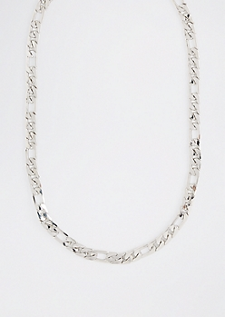 Silver Figaro Chain Necklace