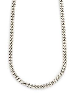 Silver Metallic Chain Necklace