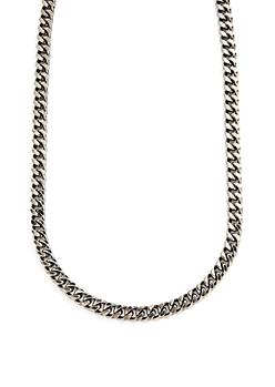 Hematite Metallic Chain Necklace