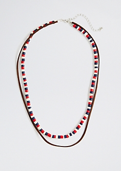 Americana Layered Bead Necklace