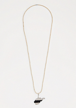 West Virginia Ball Chain Necklace