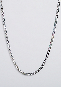 Iridescent Curb Chain