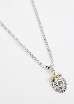 Lion Crown Pendant Necklace