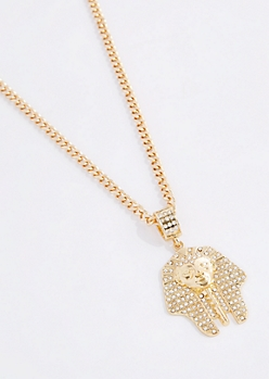 Oversized Diamante Pharaoh Necklace