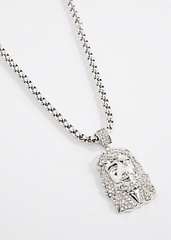 Iced Out Oversized Jesus Necklace