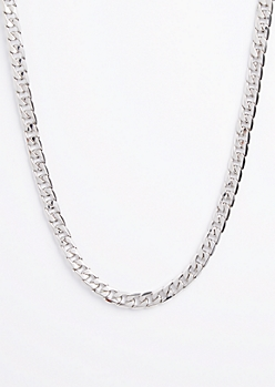 Silver Medium Cuban Link Necklace