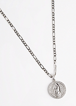 Mother Mary Medallion Necklace